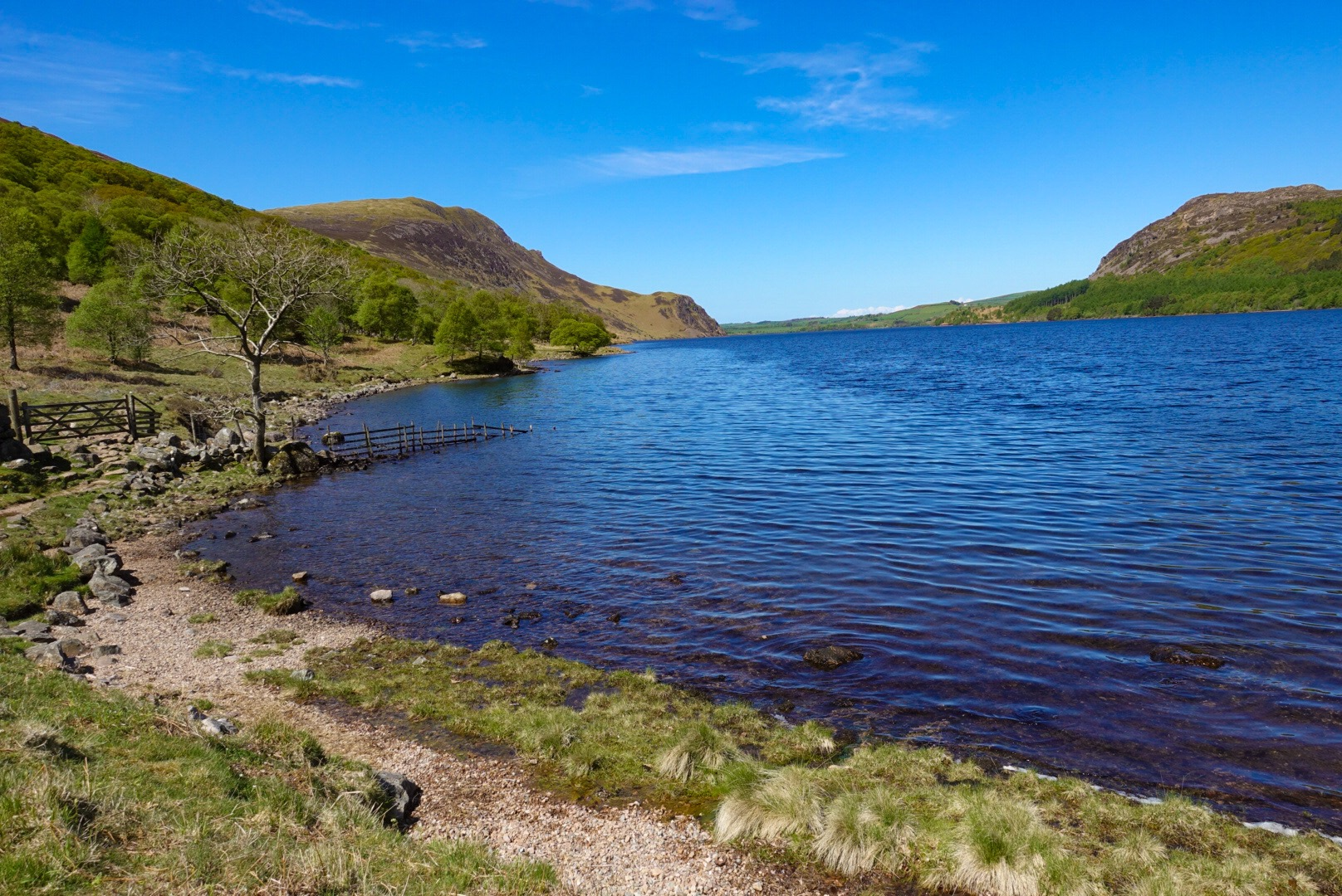 Leaving Ennerdale Water