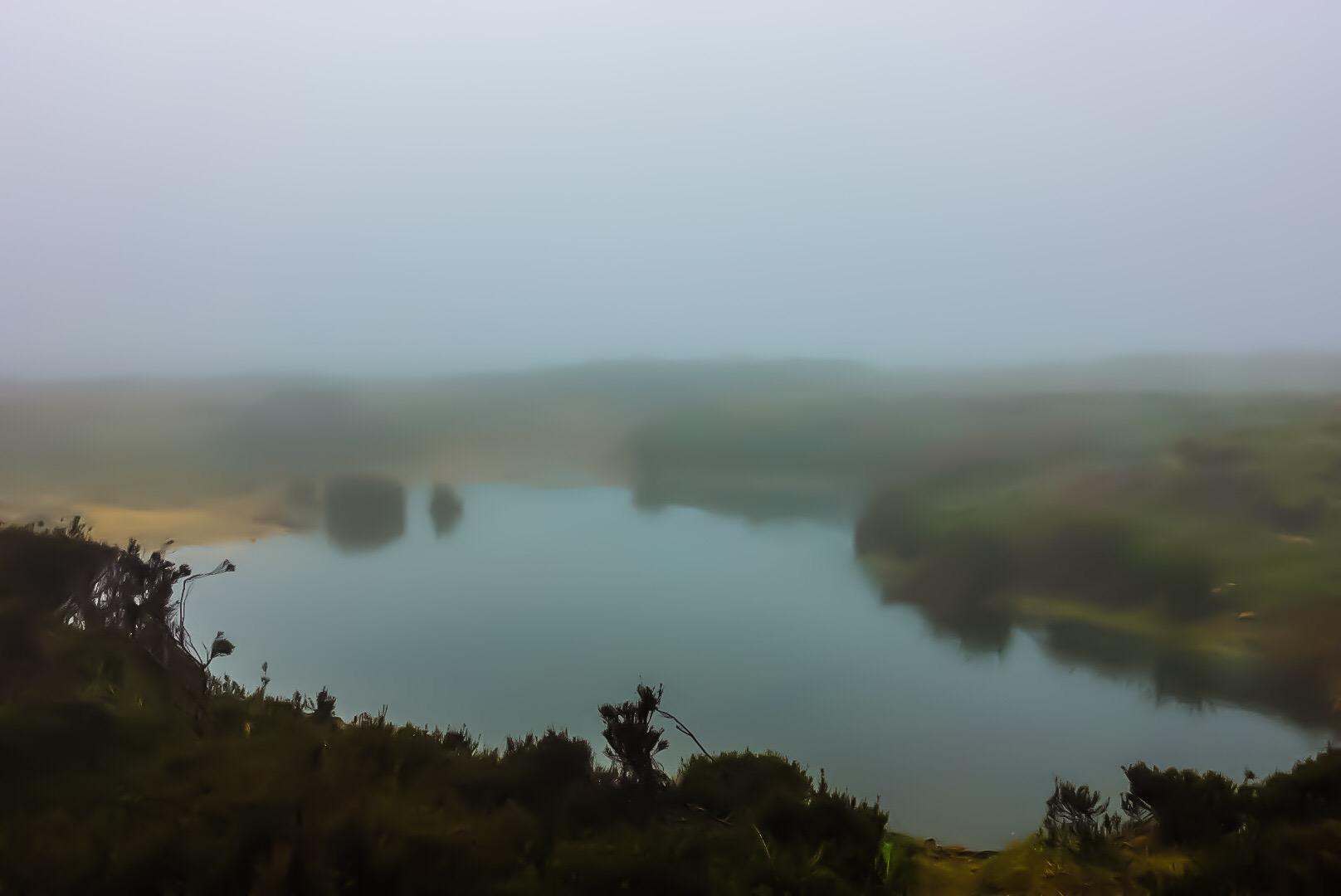 Tarn in Fog